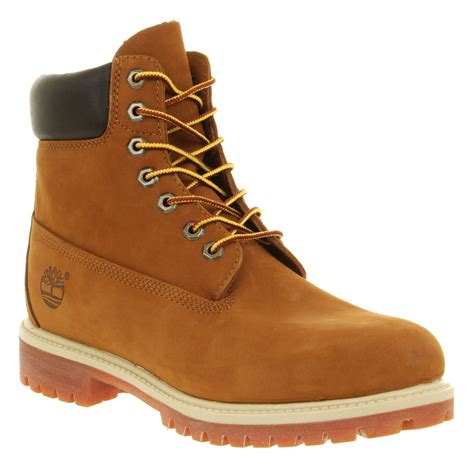 Timberland Boot Ring Brown Ujung Besi timberland 6 in buck boots in brown for rust save 3 lyst