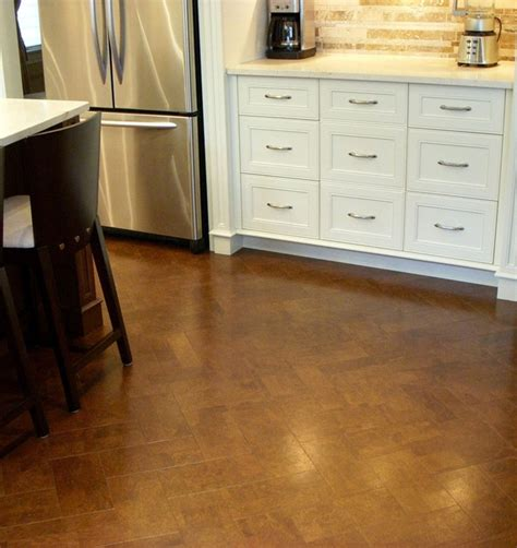 cork flooring kitchen actual website herringbone cork floor kitchen remodel