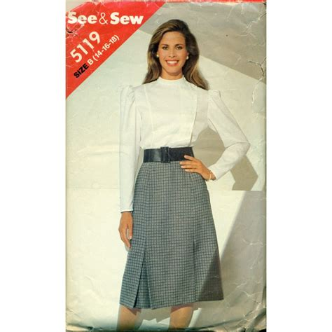 butterick skirt blouse pattern a line 80s