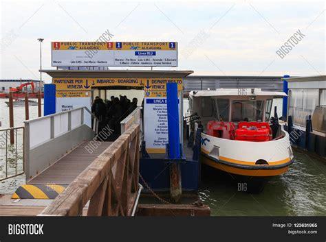 motor boat venice airport venice italy march 17 2016 image photo bigstock