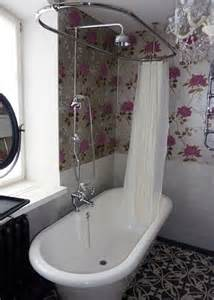 Freestanding Baths With Shower Over Roll Top Bath Shower Bathroom Our House New Bathroom