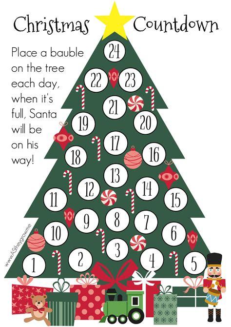 printable xmas countdown crafty christmas countdown free printable as they grow