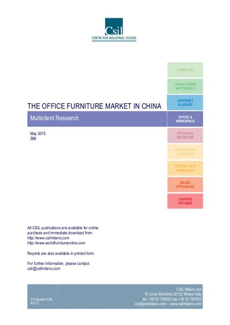 the office furniture industry in china market research