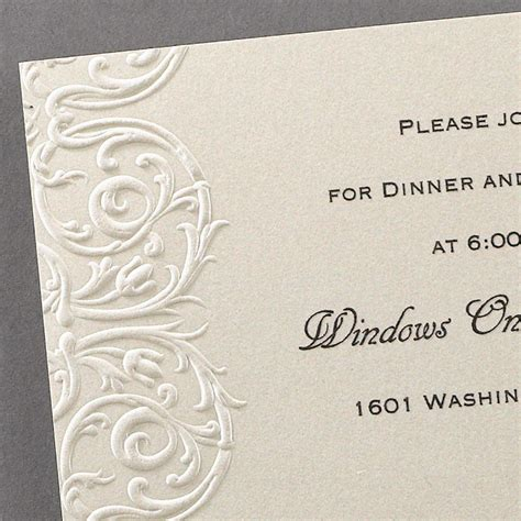 Embossed Wedding Invitations by Lace Wedding Invitations Additional Card S