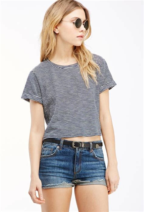 7 Striped Tops I by Forever 21 Striped Crop Top