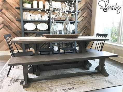 diy industrial corbel dining bench shanty  chic