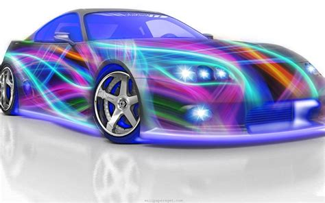 colorful car wallpaper artistic design 3d car colorful hd wallpaper