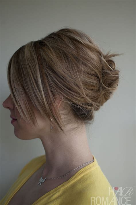hairstyles roll hairstyle how to easy french roll hair romance