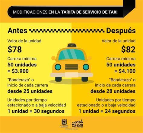 tabla de taxis 2016 tarifa de taxis bogot 225 tarifa de servicio de taxi subir 225