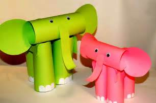 paper crafts for home decor paper craft for kids elephants easy crafts youtube loversiq