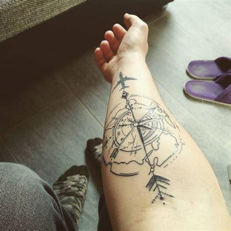 compass tattoo airplane 101 best travel tattoo designs ideas