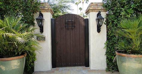 classic spanish style gate  large peep hole spanish style spanish  peeps