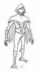 Made Up Super Villains Drawings Sketch Coloring Page sketch template