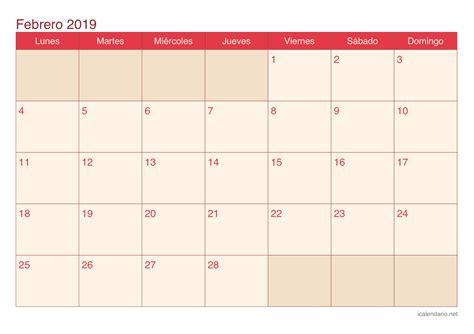 calendario febrero   imprimir icalendarionet