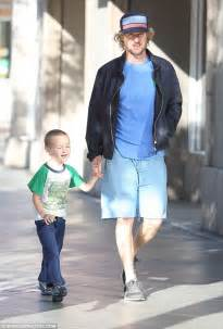 woody harrelson looks like owen wilson owen wilson looks happy during rare sighting with son