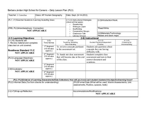 interdisciplinary unit plan template interdisciplinary lesson plan template plan template