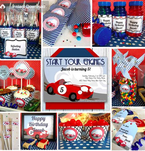 printable race car party decorations race car party planning ideas supplies birthday baby