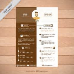 brown resume template vector free