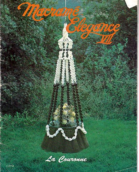 Books On Macrame - macrame elegance vii macrame pattern book gs7m