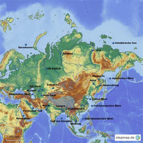 Asiat Gebirge by Gew 228 Sser Asiens S J Krause Landkarte F 252 R Asien