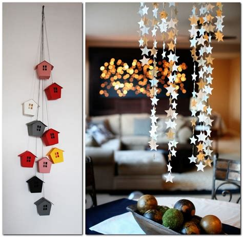 paper garlands home decor    happier home