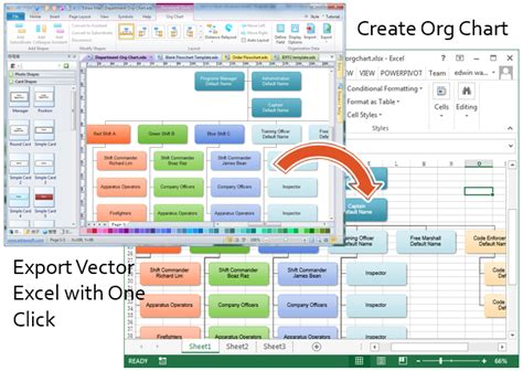 Organization Chart Template Excel by Create Organizational Charts In Excel
