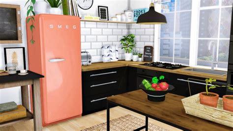 Ikea Furnitures by Mxims Cazarupt Smeg Fridge Fixed Sims 4 Downloads