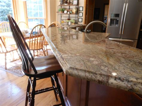bar with granite top ogee edge on granite bar top cabinets2countertops
