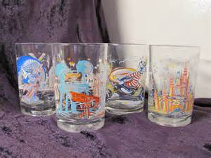 Libbey Barware Vintage Mcdonalds Disney Glasses 25th Anniversary Set Of 4