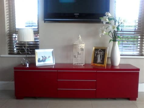 ikea besta red ikea besta burs tv stand sideboard high gloss red for sale
