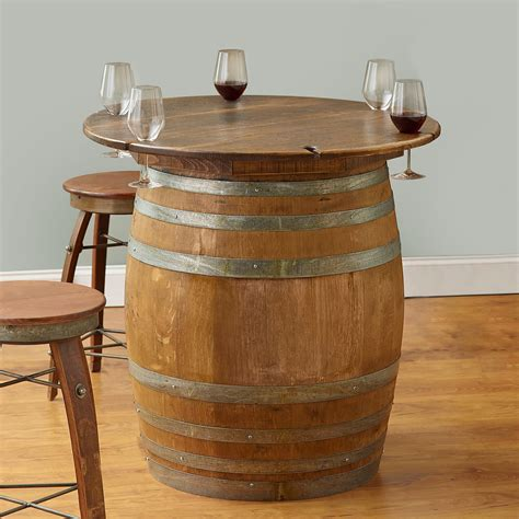 diy wine barrel table wine barrel tables wood home ideas collection tips