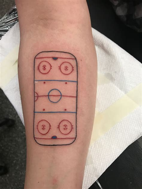 small hockey tattoos hockey rink outline outline tattoos