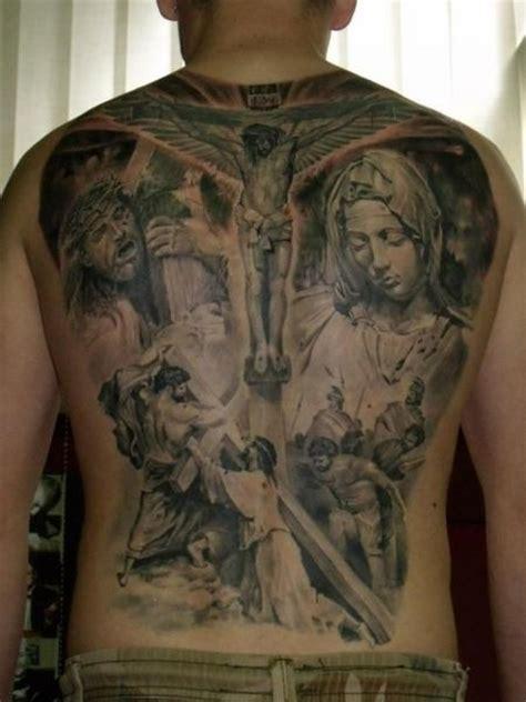jesus cross tattoos on back back jesus religious crux by qrucz