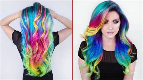 with colorful hair rainbow hair color transformations creating colorful