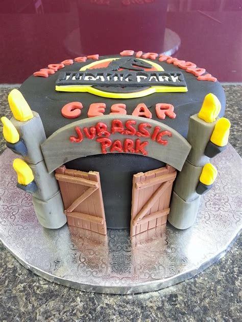 Jurassic Park Cake Decorations by Jurassic Park Birthday Cake Custom Cakes