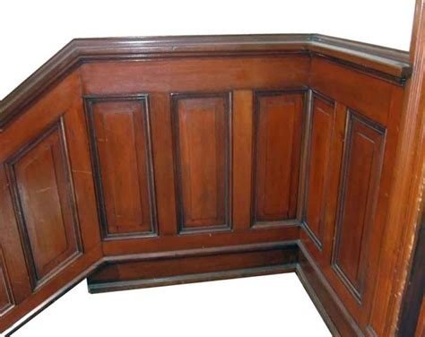 Mahogany Wainscoting Panels lot of salvaged beaded mahogany wood stair wainscoting