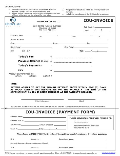 iou form template invitation templates i o u forms