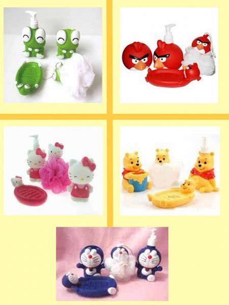 Dispenser Sabun Cair Tempat Sabun Hello Lucu Murah bathroom set karakter hello kity pooh doraemon angry birds