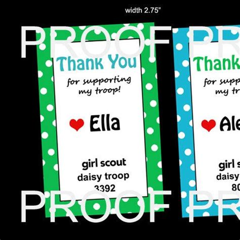 printable thank you cards girl scouts thank you girl scout note card to place on cookie box by