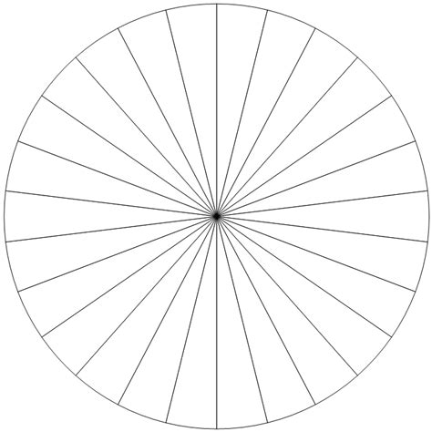 circle section 26 section pie chart use this to make a circular
