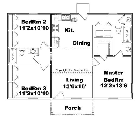 garage house floor plans 3 bedroom house plans no garage beautiful small house