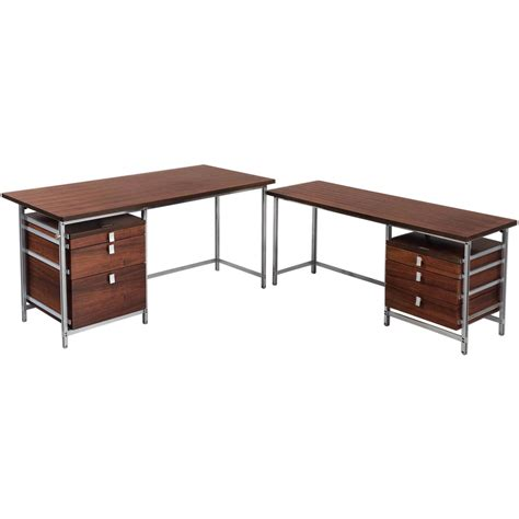 Large Corner Desks Jules Wabbes Large Executive Corner Desk For Sale At 1stdibs