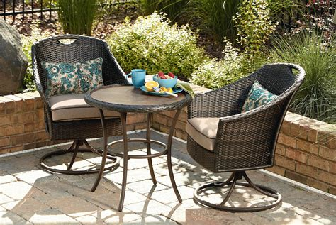 Oasis Outdoor Patio Furniture Garden Oasis Woven 3 Bistro Set Limited Availability Outdoor Living Patio