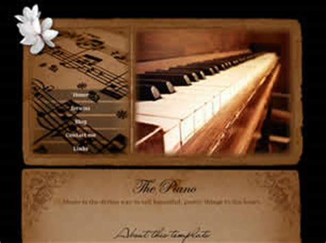 The Piano Free Website Template Free Css Templates Free Css Piano Website Template