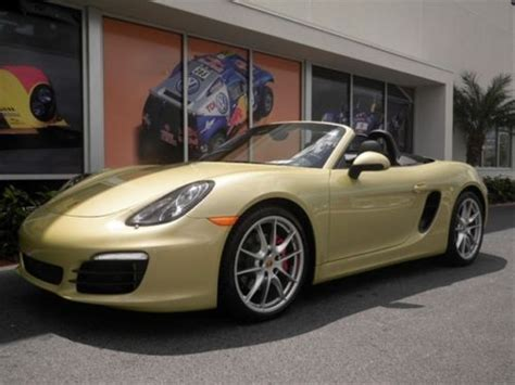 gold porsche convertible sell 2013 porsche boxster s convertible lime gold