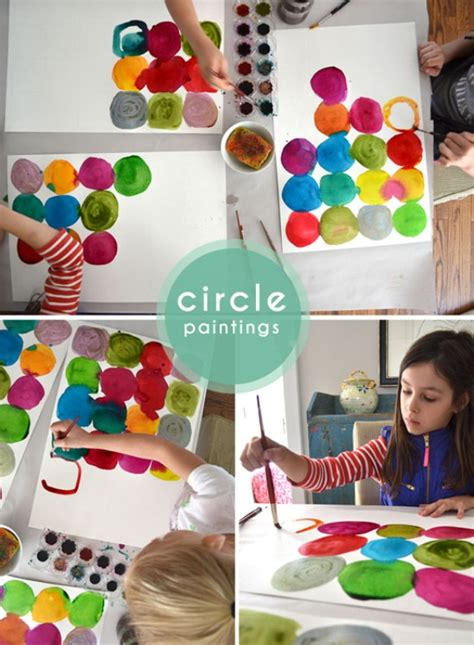diy projects for kids funny diy for kids watercolor circle paintings kidsomania