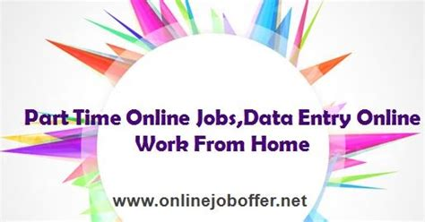 Online Work From Home Jobs Part Time - part time online jobs in delhi for freshers 12th pass
