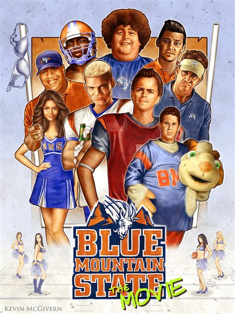 Film Blue Mountain | blue mountain state movie poster by kevmcgivernart on