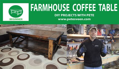 Diy Pete Farmhouse Table by How To Build And Distress Farmhouse Style Coffee Table