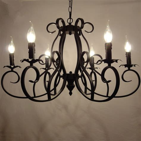 classic european fixture wrought iron chandeliers 6 heads